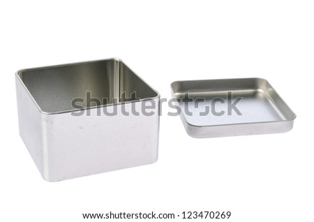 Empty metal box