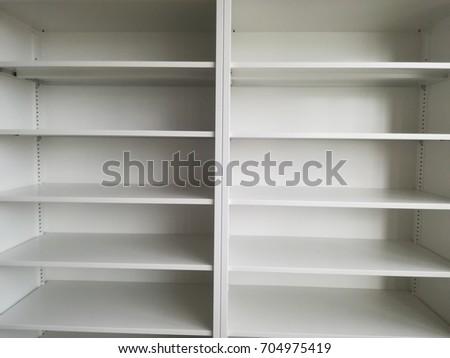 Empty metal cabinet #704975419