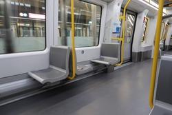Empty metro during corona lockdown in Copenhagen