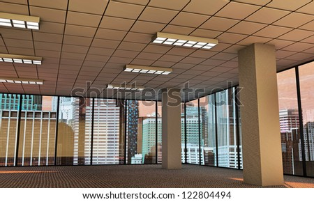 empty modern office - stock photo