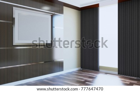 Empty modern office Cabinet. Meeting room. 3D rendering. #777647470