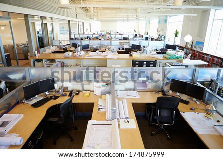 Empty Modern Open Plan Office