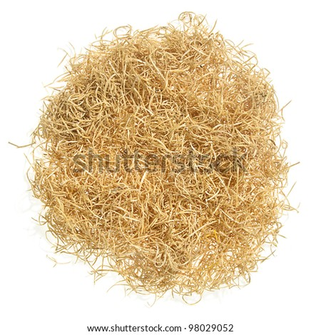 empty nest in the yellow straw isolated on white #98029052