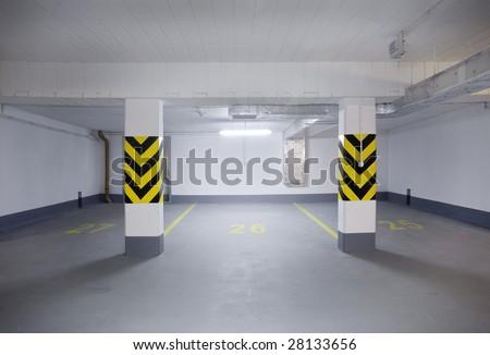 empty new garage