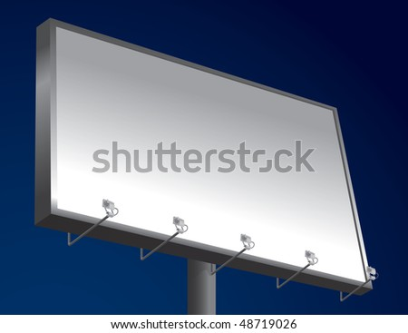 Empty Night Billboard With Space For Your Text (in the gallery also available vector version of this image)