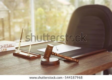 Shutterstock Empty notary workplace
