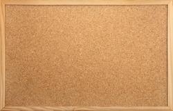 empty notice-board made of cork as backdrop