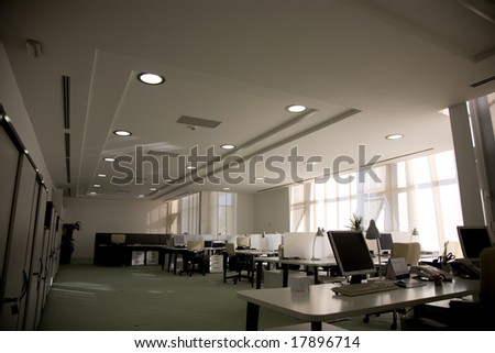 empty office in the morning