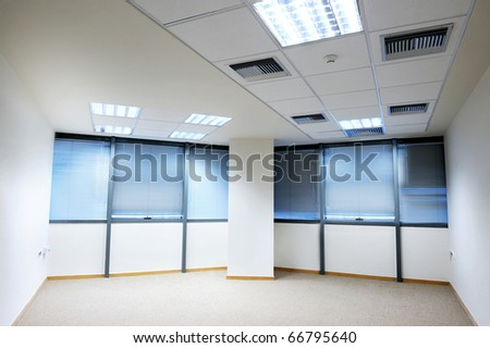empty office with windows