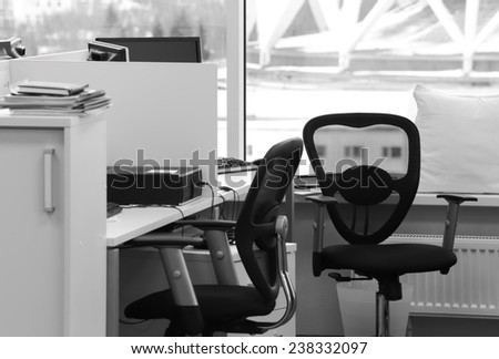 empty office workplaces