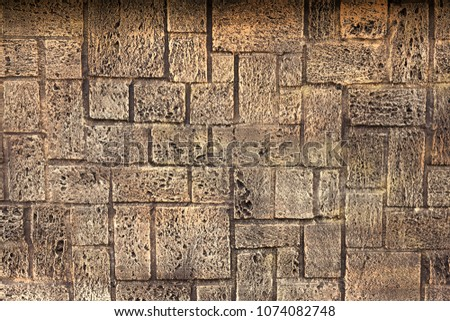 Poorly Painted Wall Of Damaged Red Brick With White Paint Texture