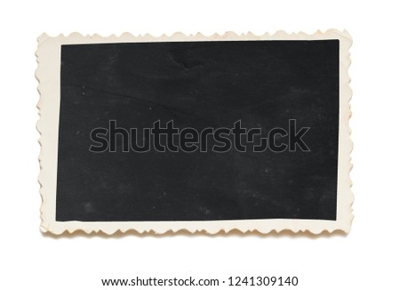 Empty old photo isolated on a white background