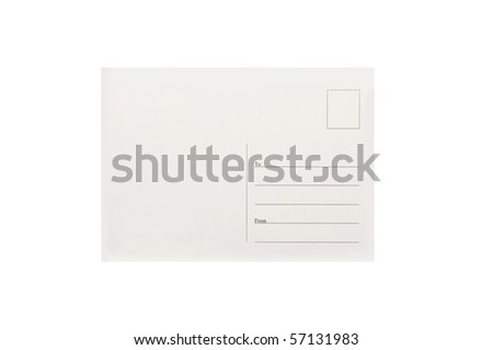 empty old postcard - stock photo