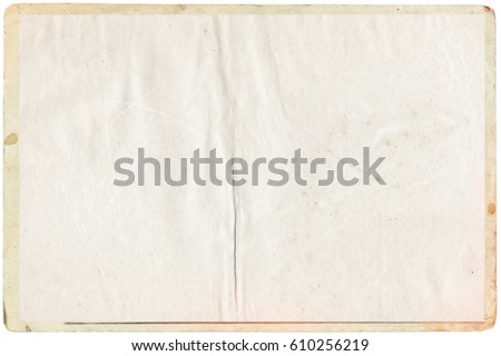 empty old vintage paper background. Paper texture - Shutterstock ID 610256219