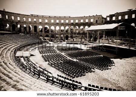 Pula Croatia Amphitheater Amphitheater in Pula