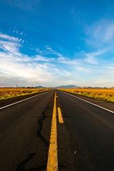Empty Open Road Southwest Highway USA