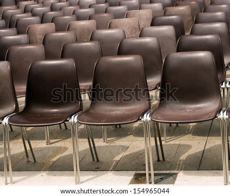 Empty outdoor chairs