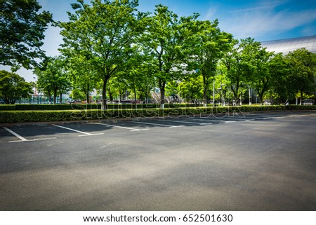 Empty parking lot - Shutterstock ID 652501630