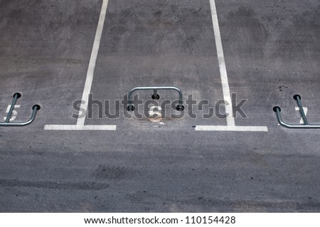 Empty parking lot, reserved park space