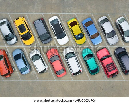 Empty parking lots, aerial view. Stockfoto ©