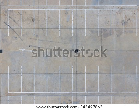 Empty parking lots, aerial view. #543497863