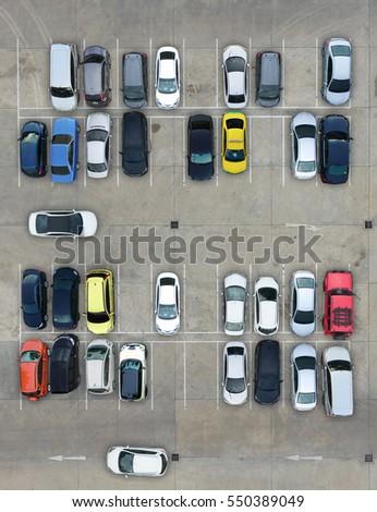 Empty parking lots, aerial view. Imagine de stoc ©