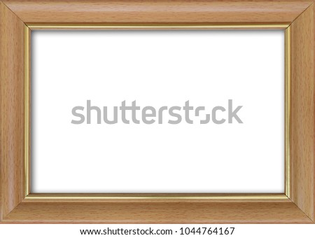 Empty picture frame with a free place inside, isolated on white #1044764167