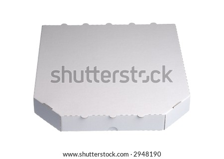 stock photo : Empty pizza box isolated on a white background.