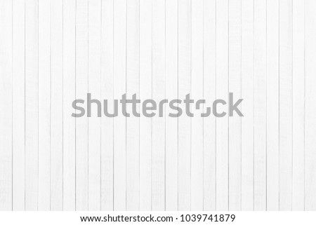 Empty plank white wooden wall texture background