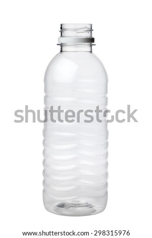 empty plastic bottle isolated on white background #298315976