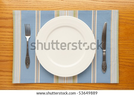 empty plate from above