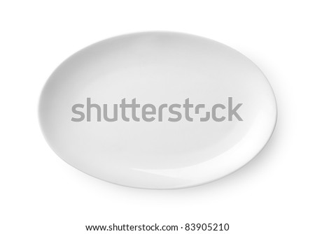 Empty plate isolated on a white background Clipping Path