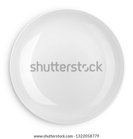 Empty plate, isolated on white background, clipping path, full depth of field #1322058779