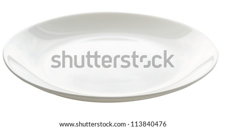 empty plate isolated on white (series)
