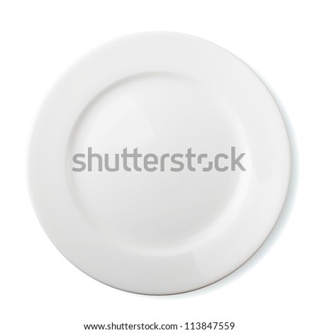Empty plate - isolated over white background