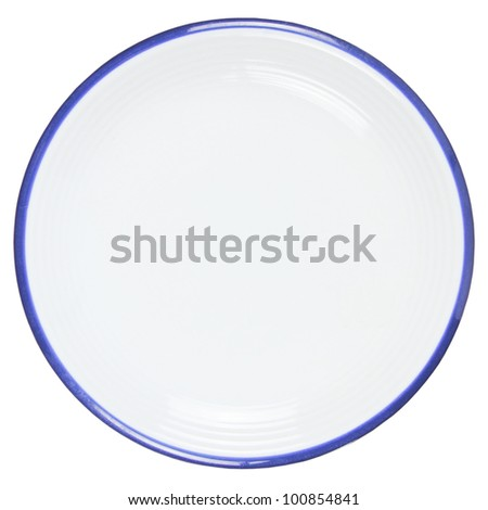 Empty plate on white background, clipping path