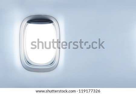 empty porthole and  place for text