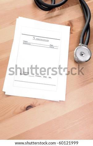 Empty Prescription on the Desk