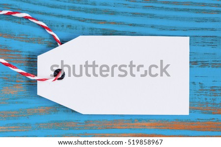 Empty price tag on wooden background. Black friday, Cyber monday and Big sale concept #519858967