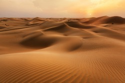 Empty Quarter Desert Dunes at Liwa, Abu Dhabi, United Arab Emirates