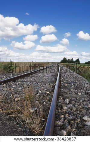empty railway track to nowhere