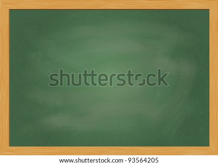 Empty realistic black board illustration - stock photo