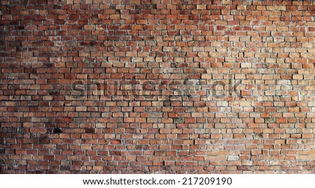 Empty Red Brick Wall
