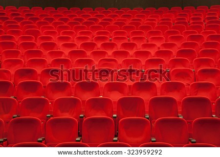empty red cinema or theater seats #323959292