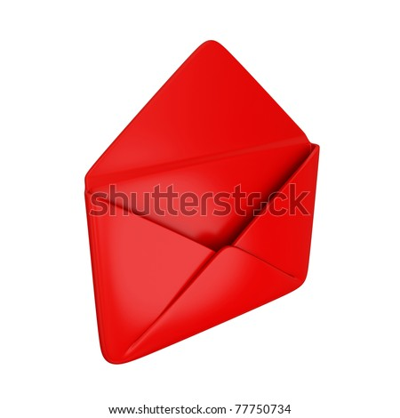Empty red cover. Isolated on white background.3d rendered.