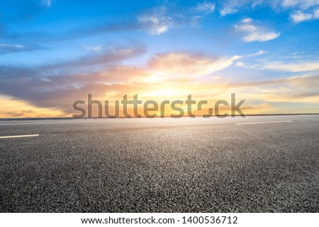 Empty road and sky nature landscape #1400536712