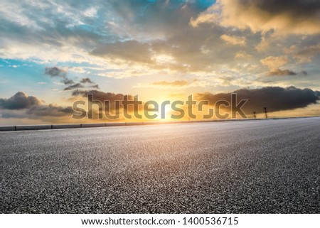 Empty road and sky nature landscape #1400536715