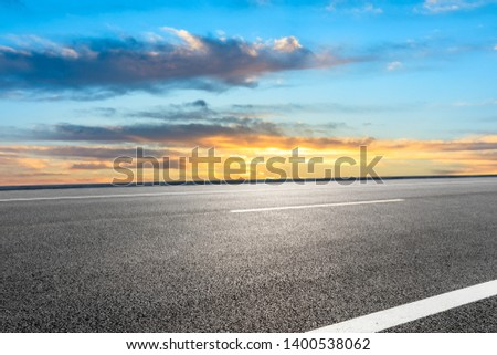 Empty road and sky nature landscape #1400538062