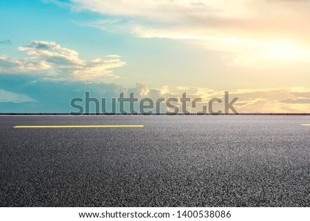Empty road and sky nature landscape #1400538086
