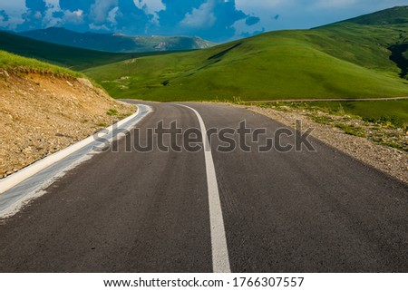 Empty road in the mountains